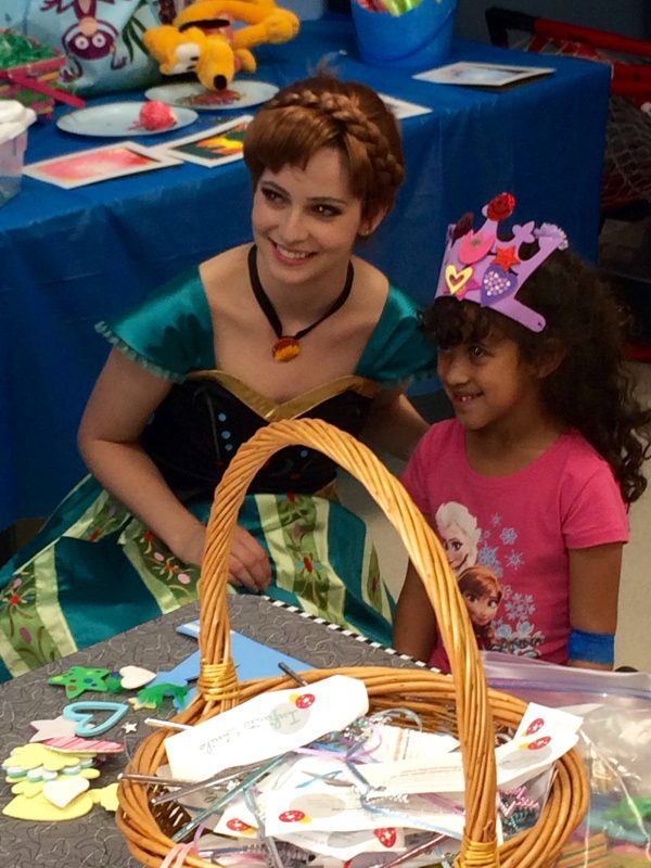 Anna CHOC kids hospital visit. Ever After Princess Events