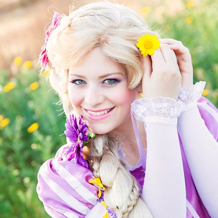 Rapunzel flower in hair main