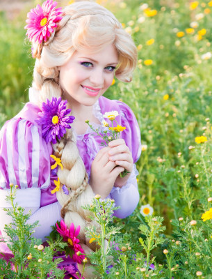 Rapunzel at an Orange County photo shoot