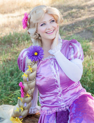 Rapunzel in the meadow. OC Princess Parties