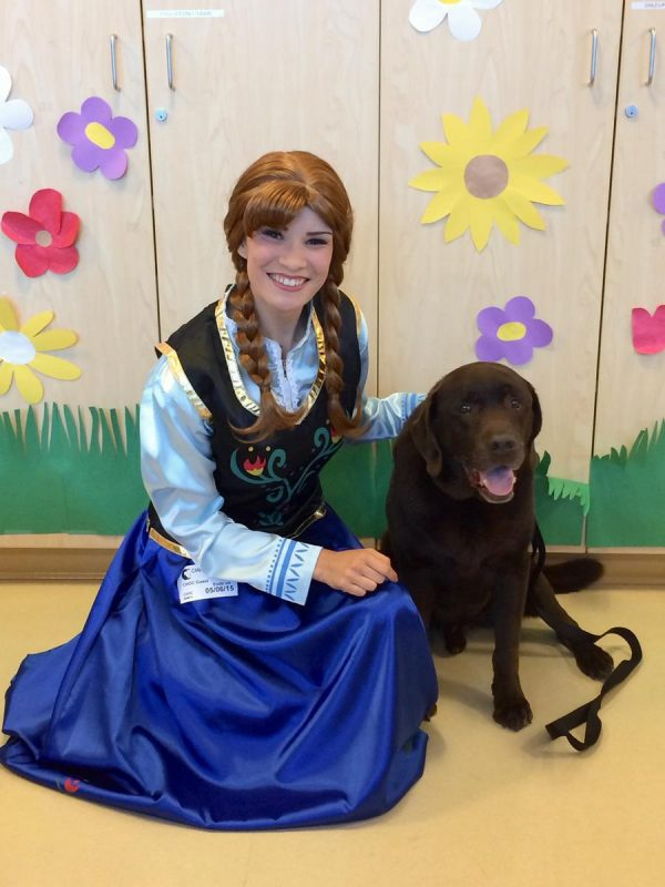 Princess Anna from Frozen at childrens hospital