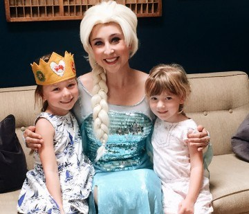 Elsa at a childrens party in OC