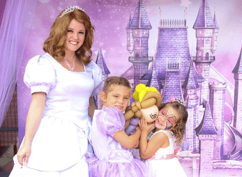 Sofia The First at a childrens birthday party