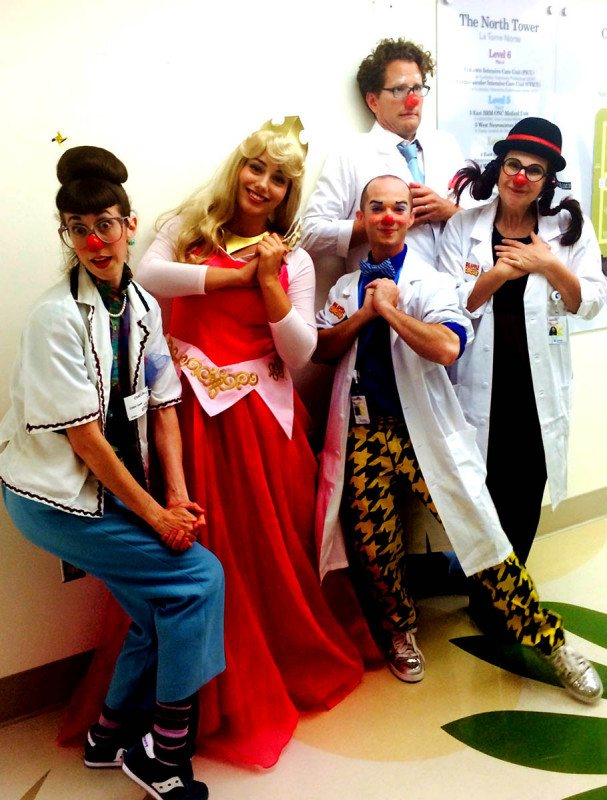 Our princesses visiting CHOC Doctors & their patients