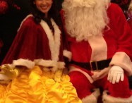 Red Rose Princess With Santa in Orange County