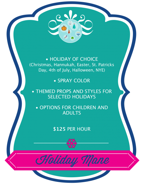 Holiday Mane Pricing Graphic