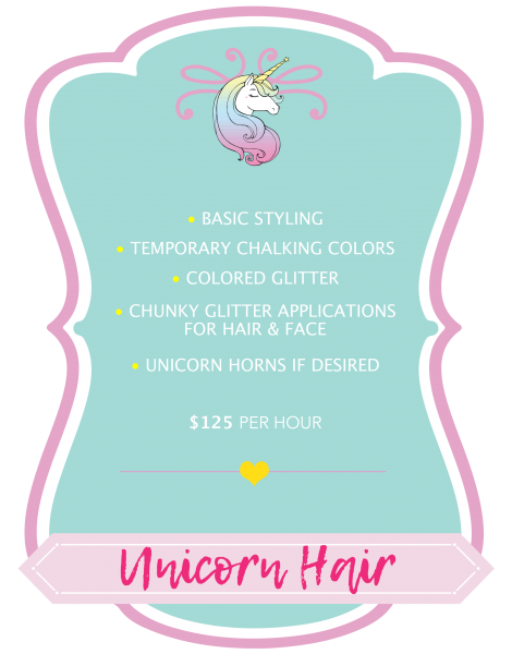 Unicorn Mane Pricing Graphic