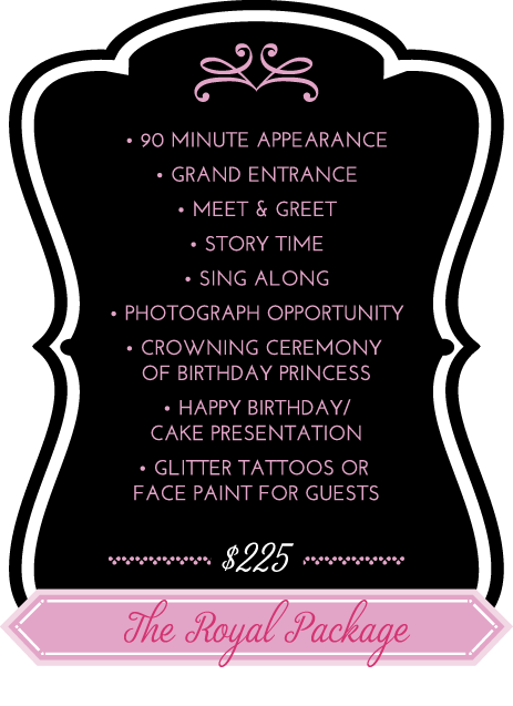 OC Princess Party Royal Package