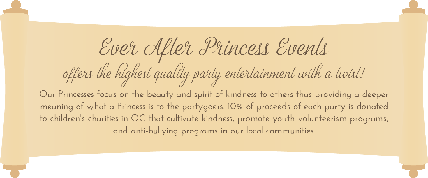 Ever After Princess Events - kids party entertainment in Orange County