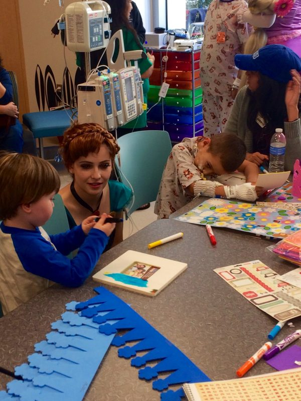 Princess Anna CHOC kids hospital visit. Ever After Princess Events