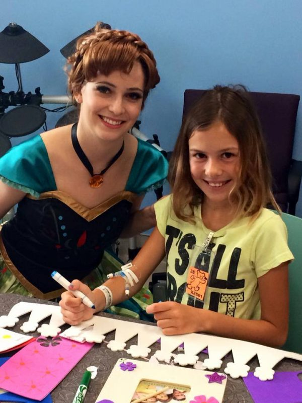 Princess Anna CHOC kids hospital visit. Ever After Princess Events. April 2015