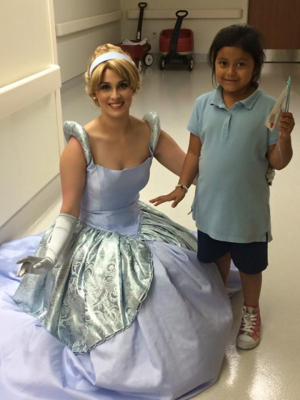 Cinderella visiting kids in hospital