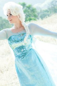 Elsa posing for photo shoot. OC Princess parties