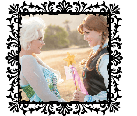 Photo Frame Anna & Elsa with kindness wands