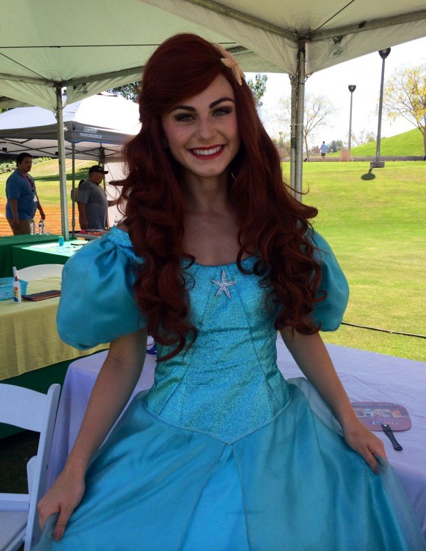 Our princesse at a local event in OC