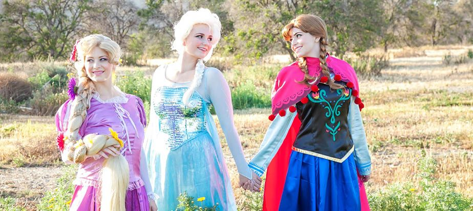 Rapunzel, Anna & Elsa at an Orange County photo shoot