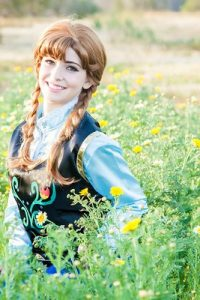 Anna from Frozen. Kids princess party entertainment in Orange County