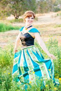 Anna dancing in the meadow - Ever After Princess Events, OC
