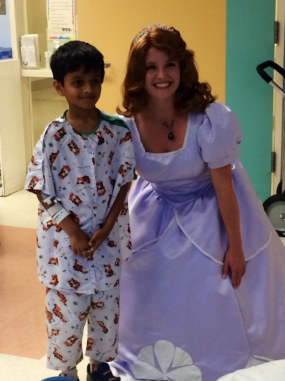 Sofia the first visiting sick children in hospital
