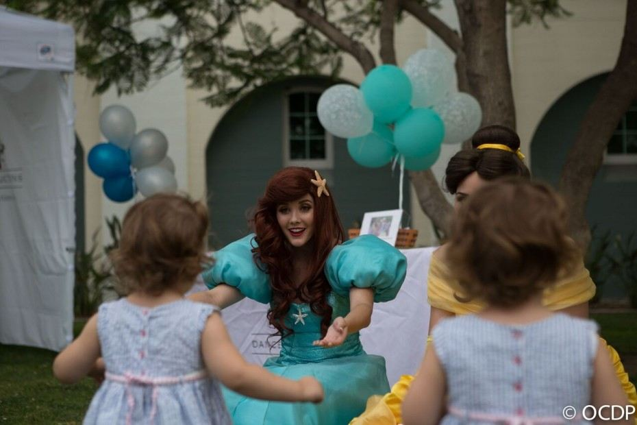 Princess Ariel at a kids birthday party in OC