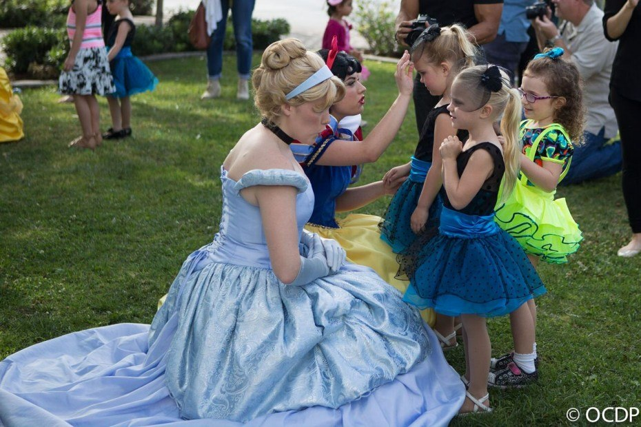 Our princesses at a kids birthday party in OC