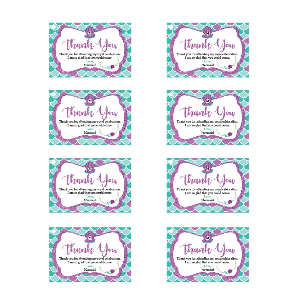 Mermaid Invitations - Ever After Princess Events